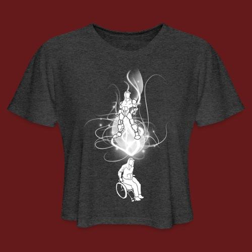 TransforMax (white) - Women's Cropped T-Shirt