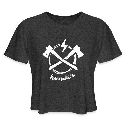 woodchipper back - Women's Cropped T-Shirt