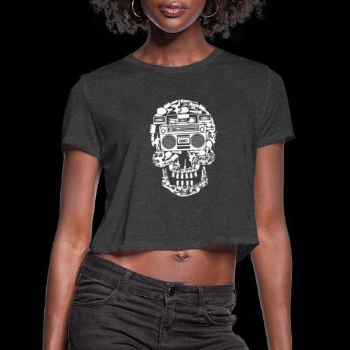 Audio Skull - Women's Cropped T-Shirt