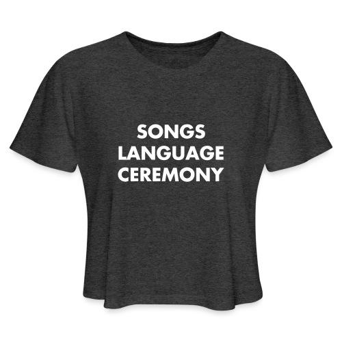 songs - Women's Cropped T-Shirt