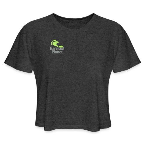 I Run Better, I Run Barefoot Women's T-Shirts - Women's Cropped T-Shirt