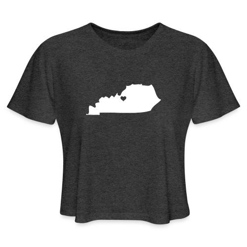 Kentucky Silhouette Heart - Women's Cropped T-Shirt