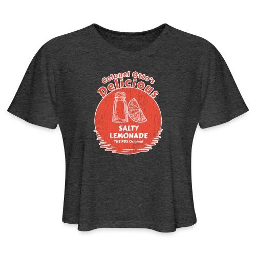 Salty Lemonade Vintage Red - Women's Cropped T-Shirt
