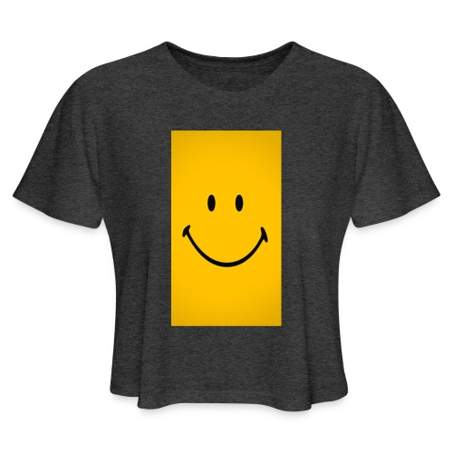 Smiley face - Women's Cropped T-Shirt