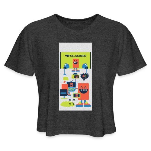 iphone5screenbots - Women's Cropped T-Shirt