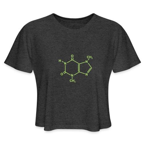 Chocolate (Theobromine) Molecule - Women's Cropped T-Shirt