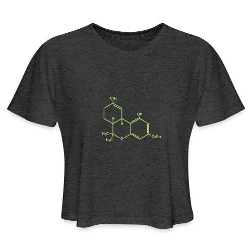 Marijuana (THC) Molecule - Women's Cropped T-Shirt