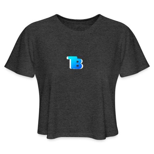 Trublu Overlapping letter Design - Women's Cropped T-Shirt