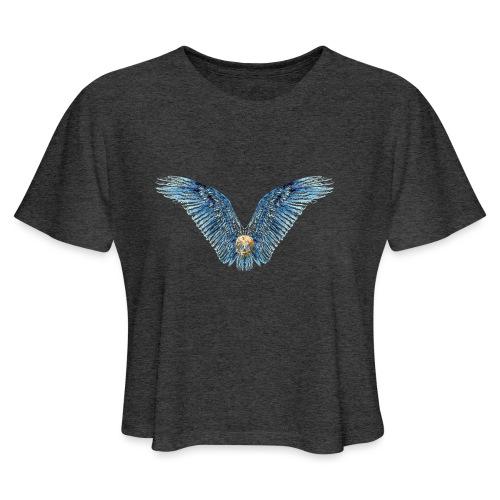 Wings Skull - Women's Cropped T-Shirt