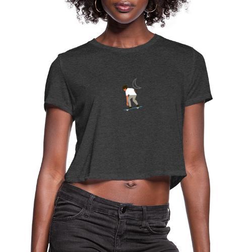 Apollo Skate (Style B) - Women's Cropped T-Shirt