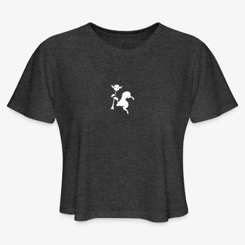 imagika white - Women's Cropped T-Shirt