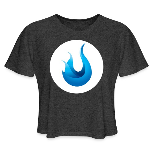 flame front png - Women's Cropped T-Shirt