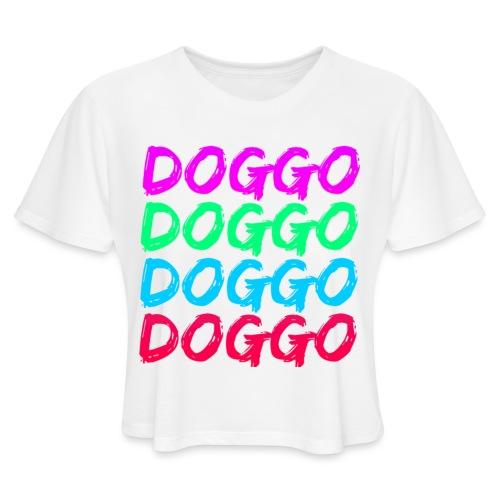 That 70's Doggo - Women's Cropped T-Shirt