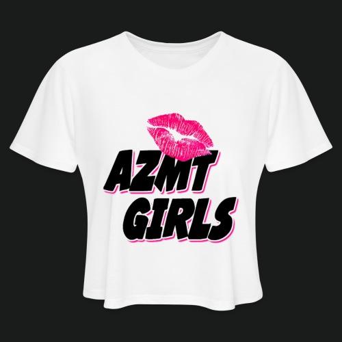 azmt girls logo #2 - Women's Cropped T-Shirt