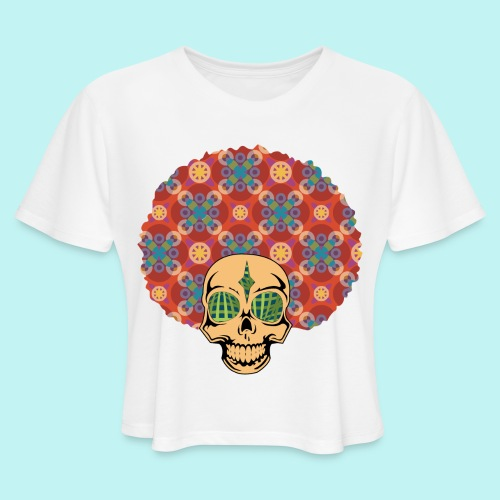 MACK DADDY SKULLY - Women's Cropped T-Shirt