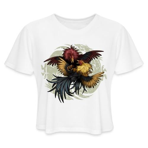 Ying Yang Gallos by Rollinlow - Women's Cropped T-Shirt