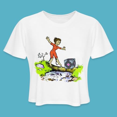Testing Everywhere! - Women's Cropped T-Shirt
