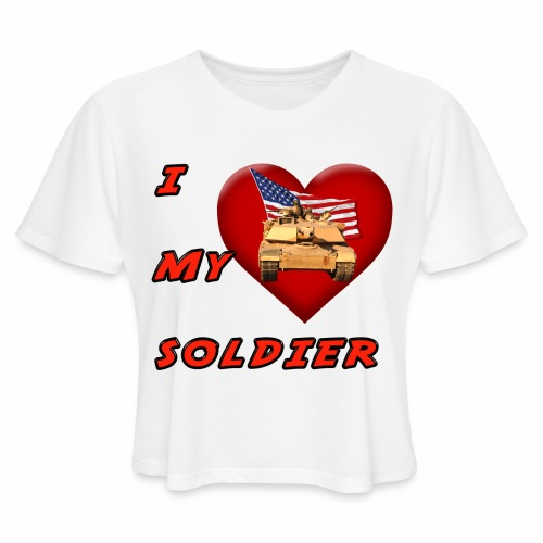 I Heart my Soldier - Women's Cropped T-Shirt