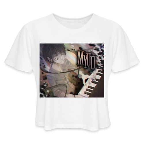 Dark Piano 1 - Women's Cropped T-Shirt