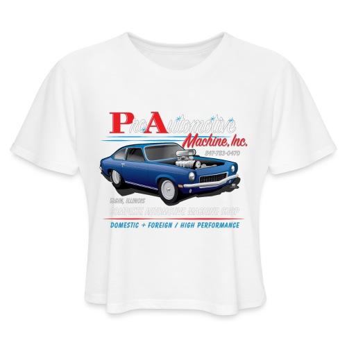 ProAutoTeeDesign062317fin - Women's Cropped T-Shirt