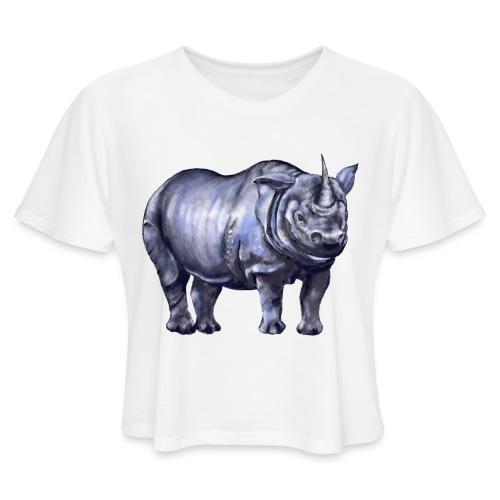 One horned rhino - Women's Cropped T-Shirt
