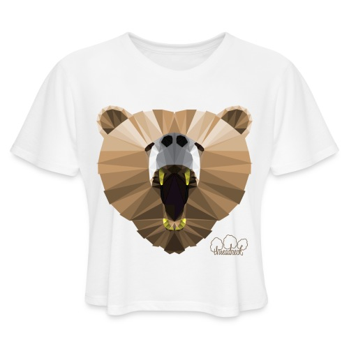 Hungry Bear Women's V-Neck T-Shirt - Women's Cropped T-Shirt
