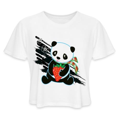 Cute Kawaii Panda T-shirt by Banzai Chicks - Women's Cropped T-Shirt