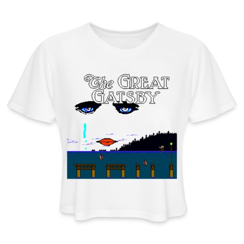 Great Gatsby Game Tri-blend Vintage Tee - Women's Cropped T-Shirt