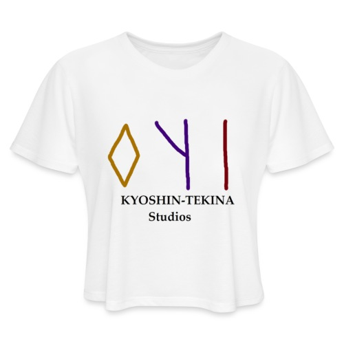 Kyoshin-Tekina Studios logo (black test) - Women's Cropped T-Shirt