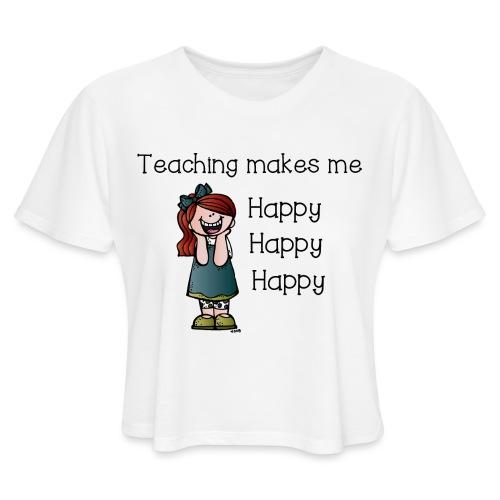 happy - Women's Cropped T-Shirt