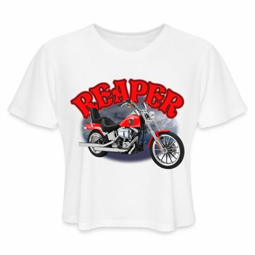 Motorcycle Reaper - Women's Cropped T-Shirt