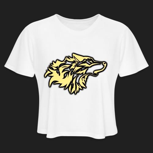 wolfepacklogobeige png - Women's Cropped T-Shirt