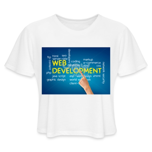 web development design - Women's Cropped T-Shirt