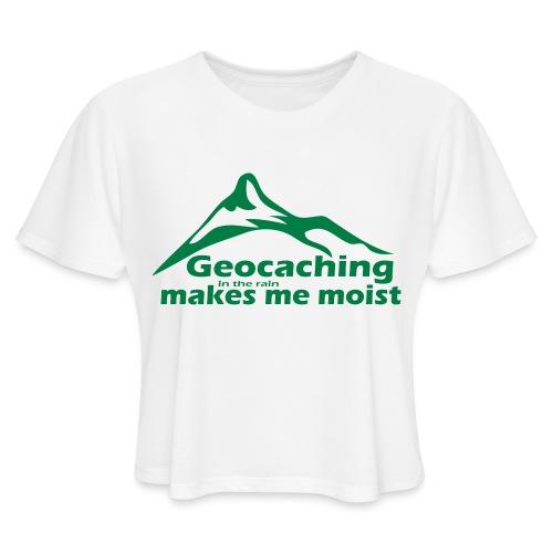 Geocaching in the Rain - Women's Cropped T-Shirt