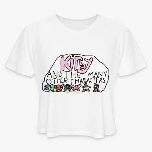 Kirby and the many other characters - Women's Cropped T-Shirt