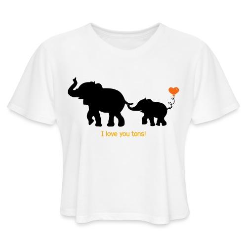 I Love You Tons! - Women's Cropped T-Shirt