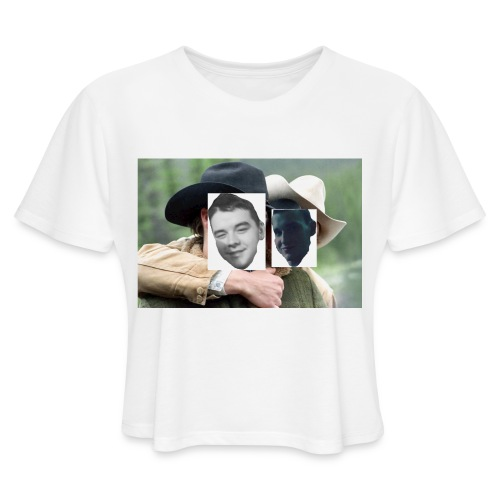 Darien and Curtis Camping Buddies - Women's Cropped T-Shirt
