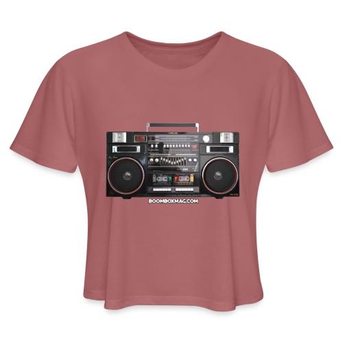 Helix HX 4700 Boombox Magazine T-Shirt - Women's Cropped T-Shirt