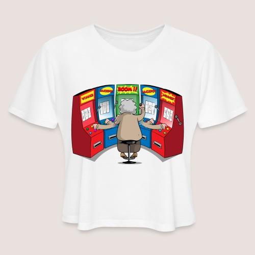 THE GAMBLIN' GRANNY - Women's Cropped T-Shirt