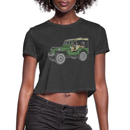SUV, all-terrain vehicle - Women's Cropped T-Shirt