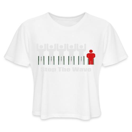 Men's Stop The Wave Logo T-Shirt - Women's Cropped T-Shirt