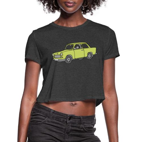 Trabant (baligreen car) - Women's Cropped T-Shirt
