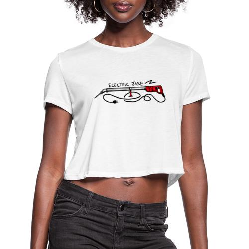 ELECTRIC JAKE - Women's Cropped T-Shirt