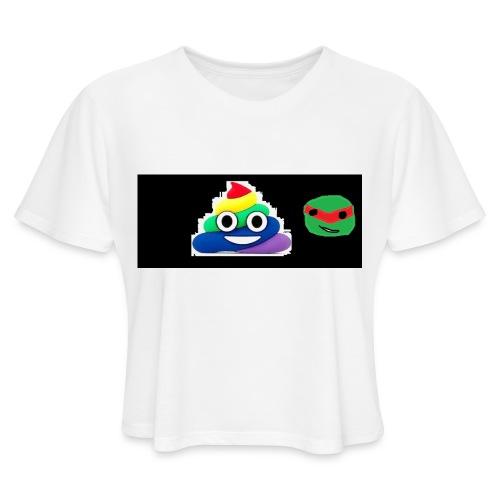 ninja poop - Women's Cropped T-Shirt