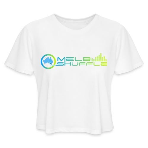 Melbshuffle Gradient Logo - Women's Cropped T-Shirt