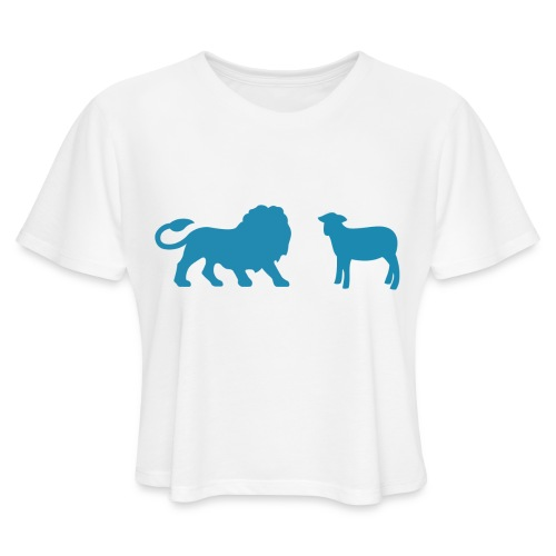 Lion and the Lamb - Women's Cropped T-Shirt