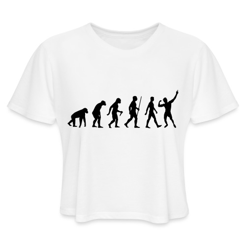 Evolution of Zyzz - Women's Cropped T-Shirt