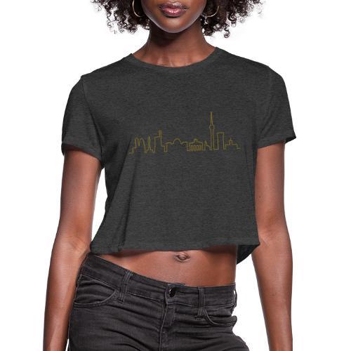 Skyline of Berlin - Women's Cropped T-Shirt