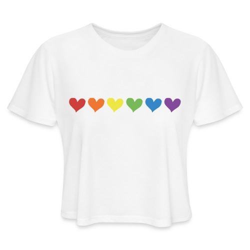 Pride Hearts - Women's Cropped T-Shirt
