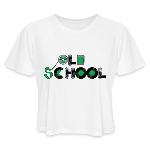 Old School Music - Women's Cropped T-Shirt